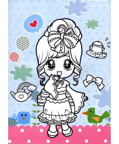 贝儿公主涂色画
