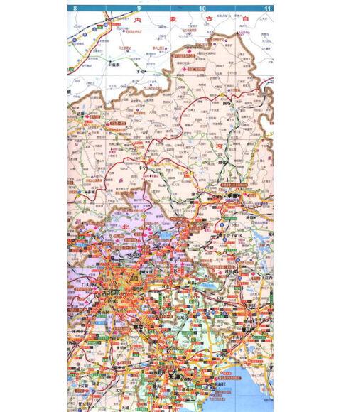 旅游必备地图:2013北京