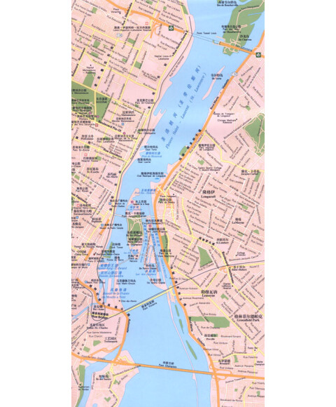 《世界分国地图系列:加拿大旅游地图(中英文