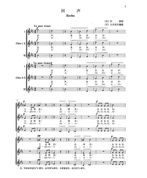 北京市少年合唱团同一首歌简谱