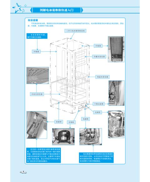 图解电冰箱维修快速入门 双色印刷