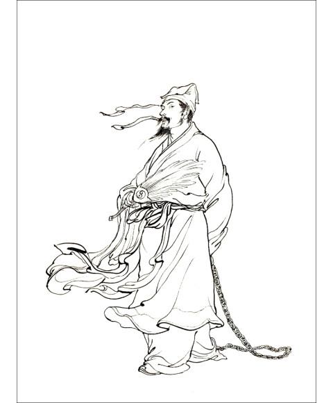 中国画线描:水浒传人物百图