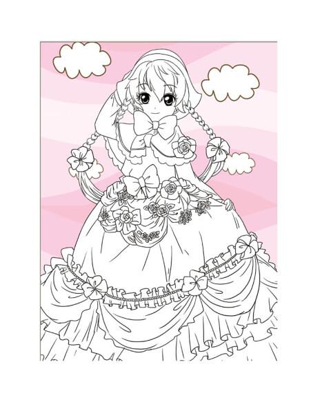 小公主私家涂色馆:可爱公主 [7-10岁]