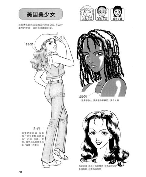 世界美少女的画法 日本漫画手绘技法经典教程