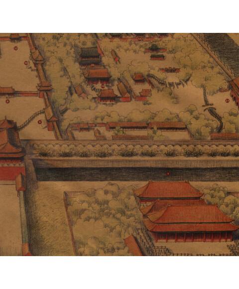 故宫全景手绘地图