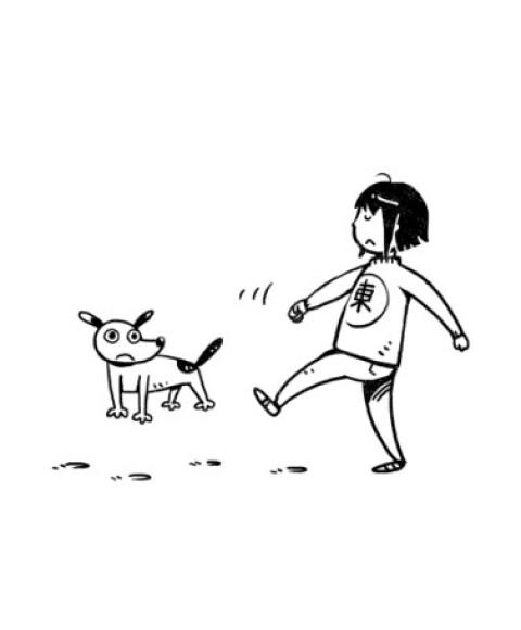 黑白插画手绘酷