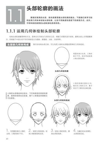 头部轮廓的画法 1.1.1