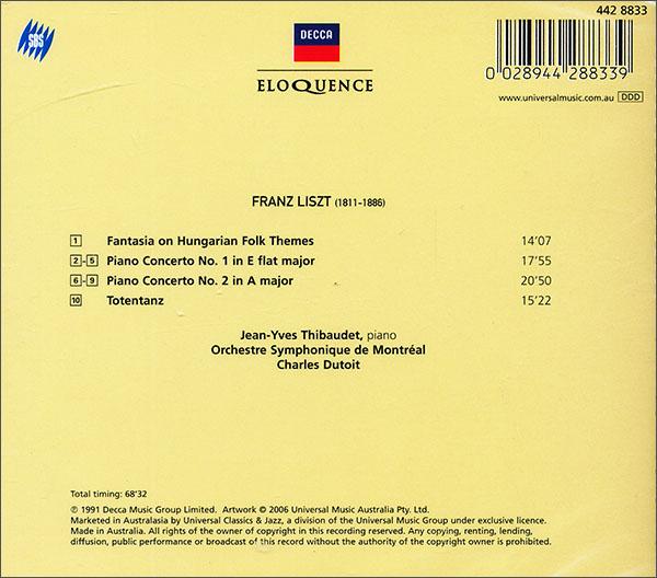 进口cd decca 李斯特:钢琴协奏曲1,2(cd)