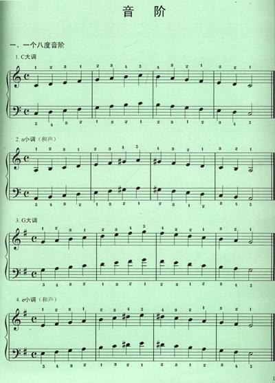 钢琴反向分解琶音谱子