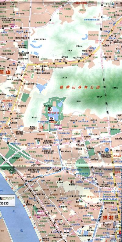珠海指南地图:岭秀城