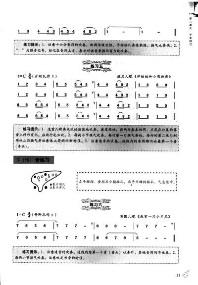 十二孔复管陶笛实用教程
