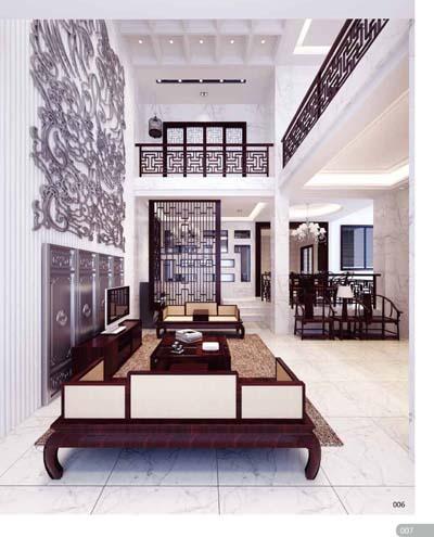 2012室内设计模型集成·新中式风格华宅报价图片