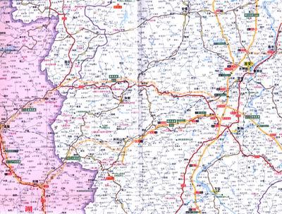 2012中国分省高速公路地图系列:江西省高速公路地图