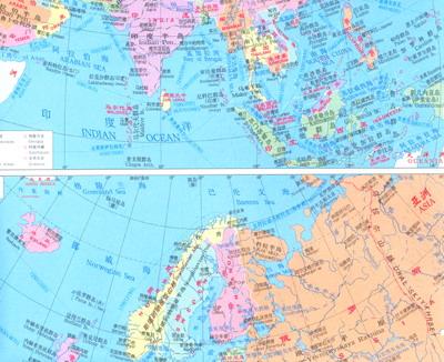 《世界地图(中英文)(商贸专用)》【摘要