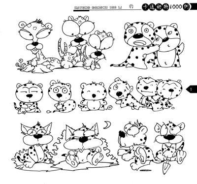 拟人动物简笔画-卡通人物简笔画,兔子简笔画,可爱动物简笔画萌萌哒