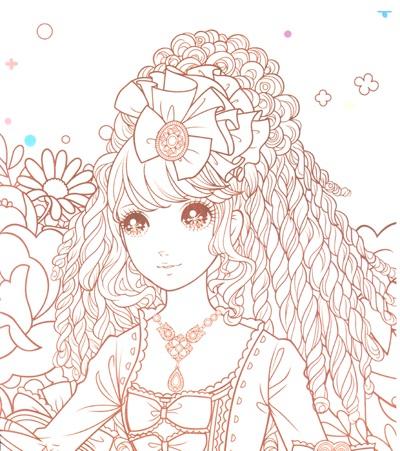 公主简笔画简单又漂亮