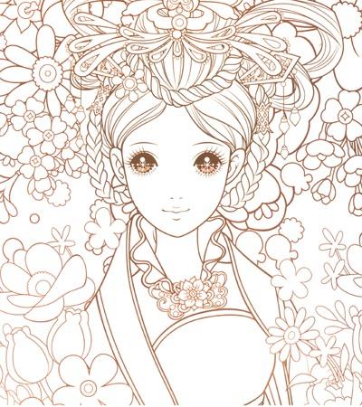 中国古代公主动漫图画
