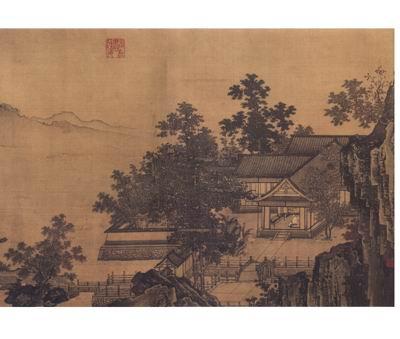 中国古代画派大图范本·南宋四家1:刘松年·景山水图(春,夏,秋,冬)图片
