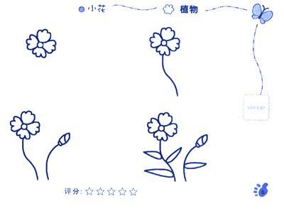 儿童简笔画 植物 动物 套装共2册