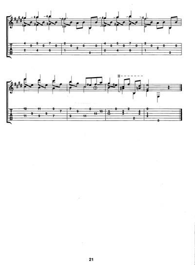 五线谱 小步舞曲