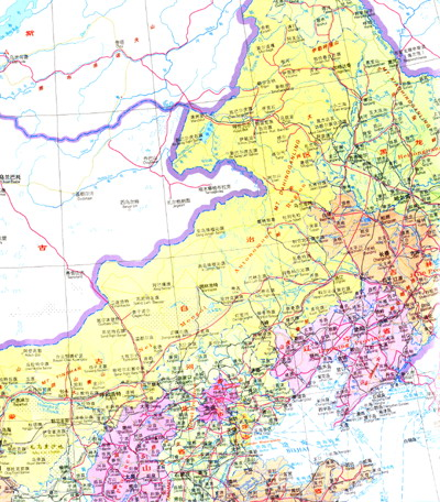 人民共和国地图(中英文)》较详细的表示了世界七大洲