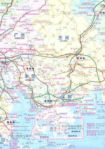 《广东省旅游交通图》【摘要