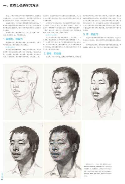 四分之三侧面短发男青年素描头像 (1)步骤提要 (2)考试的流程 (3)素描