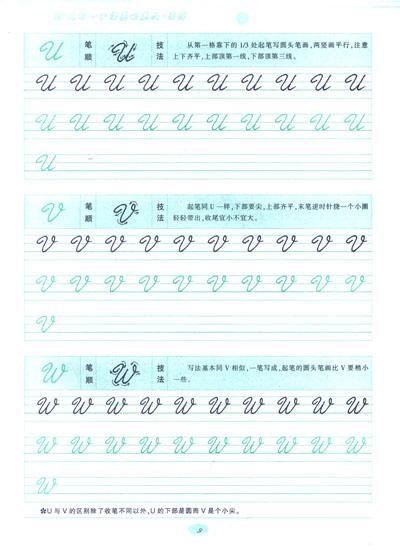 目录英文书写基础知识第一章&nsp字母与笔画大写字母小写字母