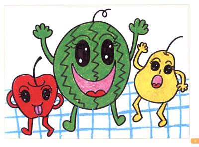 创意水果画
