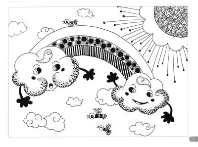【正版】现货 少儿美术进阶课堂:儿童线描画启