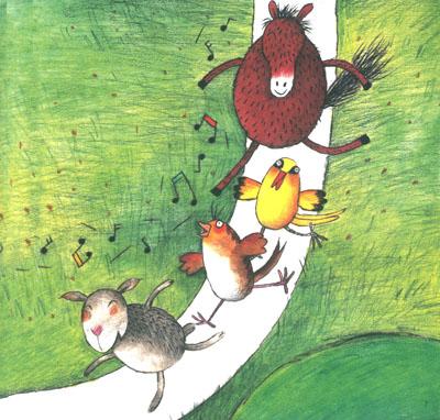 一流儿童插画家精美手绘插画