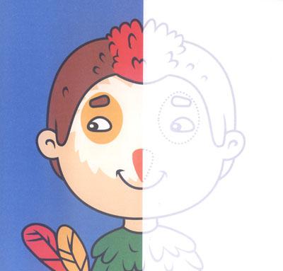 恐龙儿童面具制作图片图解