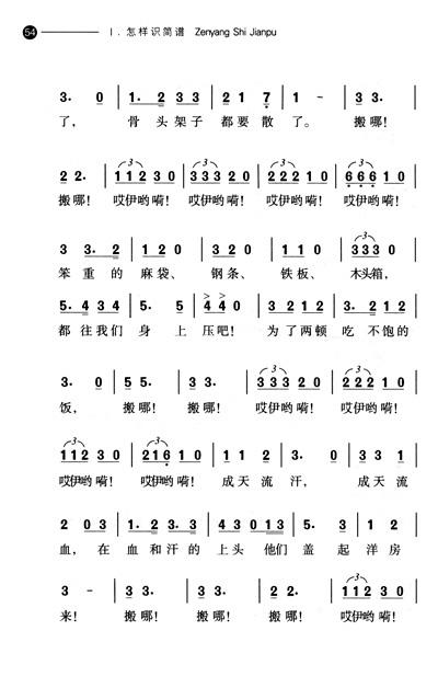 简谱中常用的各种记号和音乐术语