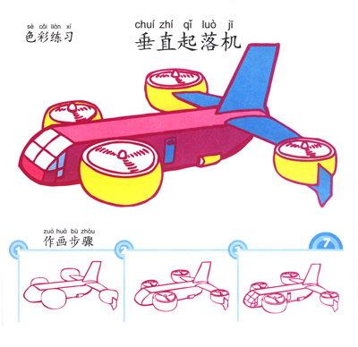 航天飞机儿童画
