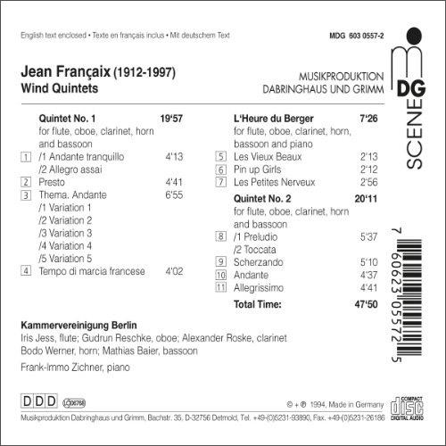 明达 管乐五重奏(cd)