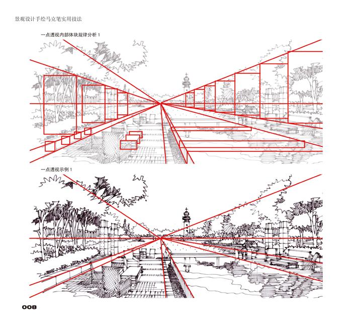 《景观设计手绘 马克笔实用技法》【摘要