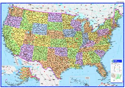 美国--世界分国地图 中国地图 正版图书