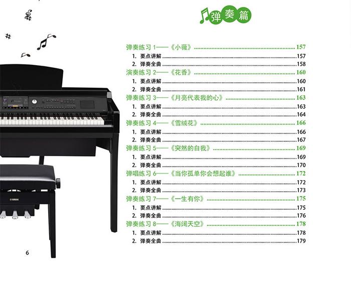 30天学会电子琴弹奏图片
