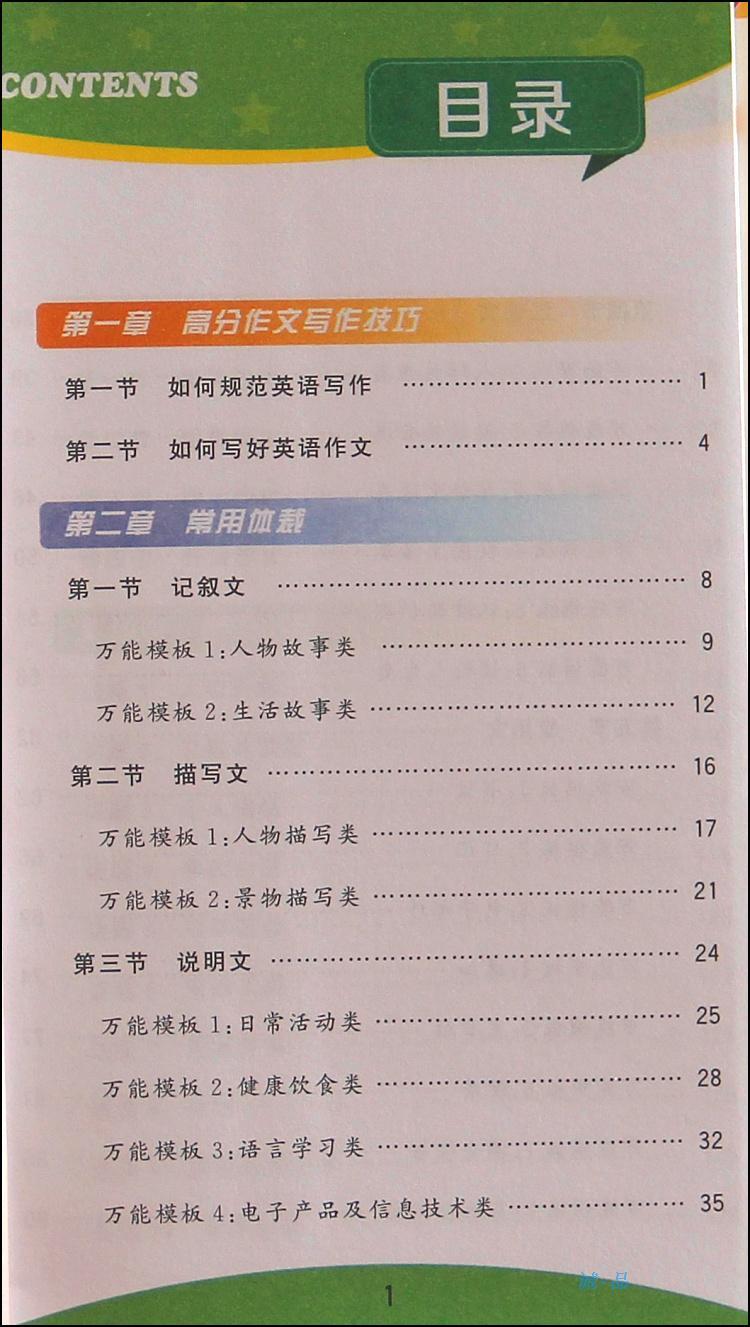 《30初中英语万能作文模板》【摘要