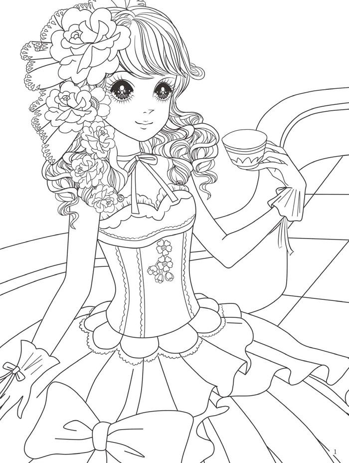 公主简笔画简单漂亮