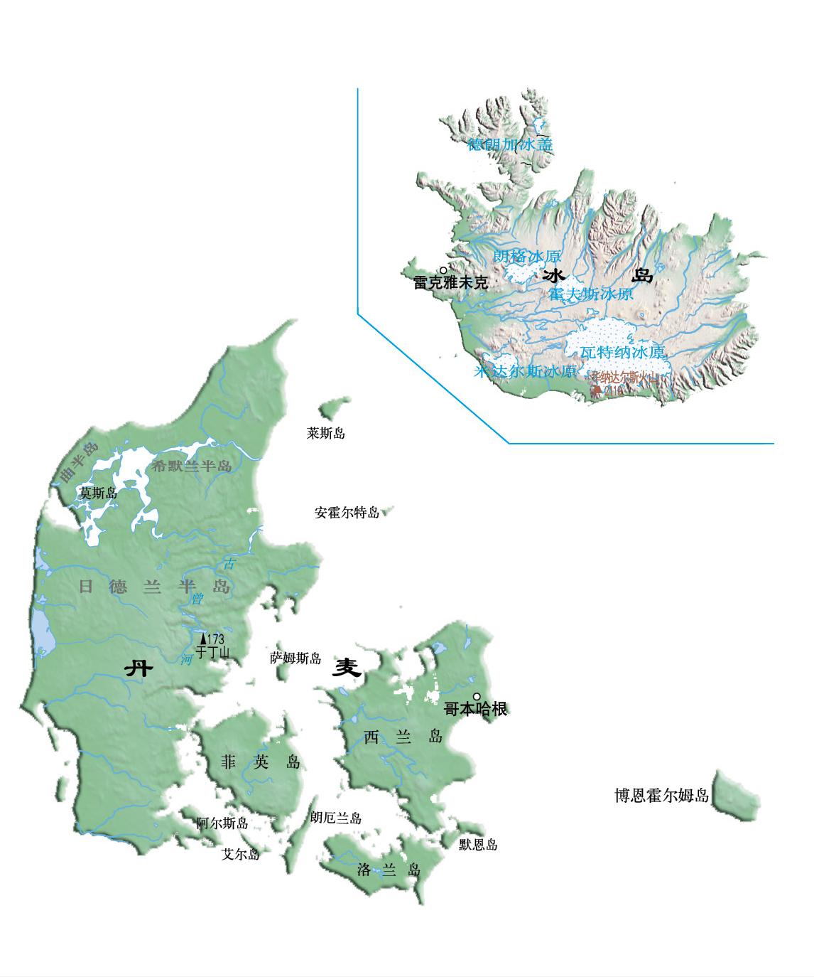 冰岛--2016世界分国地图 中国地图