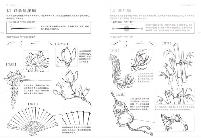绘画 彩铅/铅笔画 包邮 绘漫画 古风人物线描技法 飞乐鸟工作室 古风