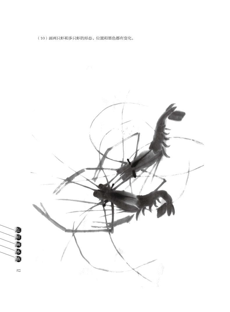 蛙等水族动物的绘画方法和技巧