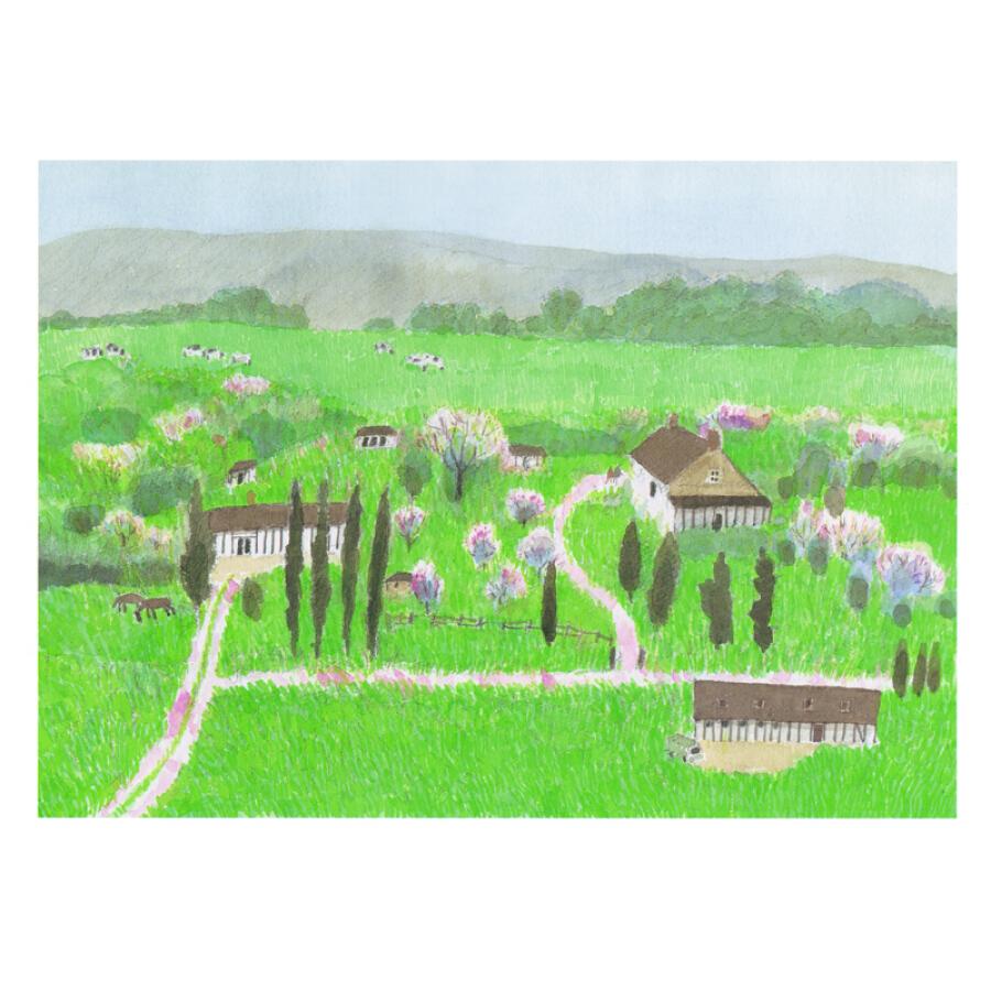邂逅风景 安徒生奖得主安野光雅 街道自然风景画作 亲子共读想象力