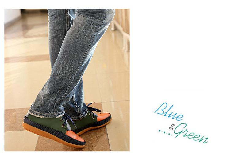 好衣府男装 真皮鞋 韩版男款拼色船鞋