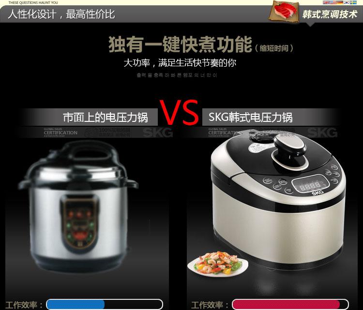 SKG SKG28196 multifunction electric pressure cooker home computer reservation function 5L Version