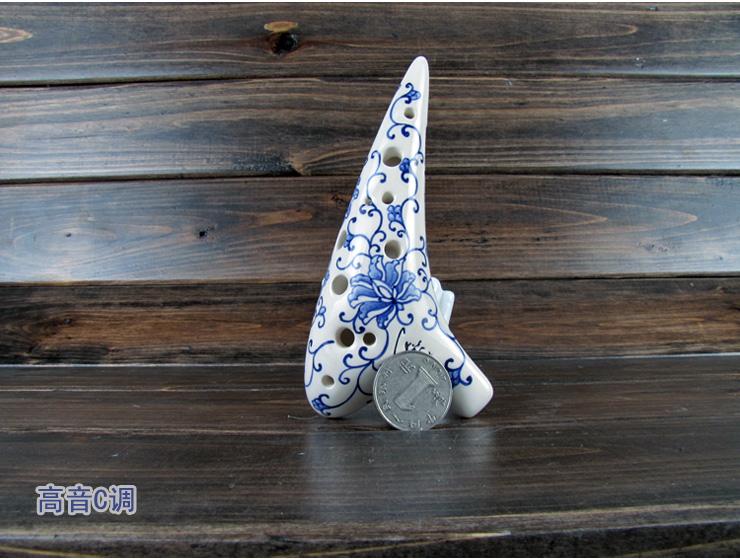 风雅陶笛青花瓷型12孔套装四件套型12孔套装四件套型 青花瓷系列