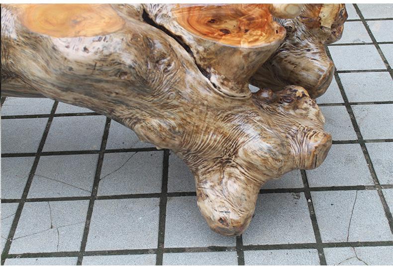 芽木排水茶海木雕工艺 新款根雕功夫茶海特价促销 茶几 四个枣木树墩