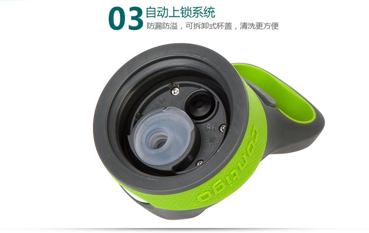 contigo 双层运动吸管杯 户外旅行塑料水杯500ml绿色hbc-adn021