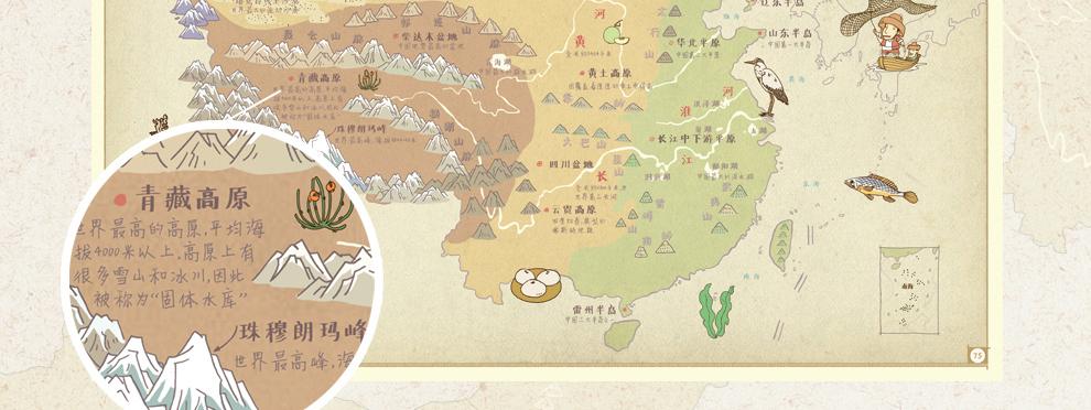 北理工-中国:手绘中国地理地图 - 京东图书|童书|科普